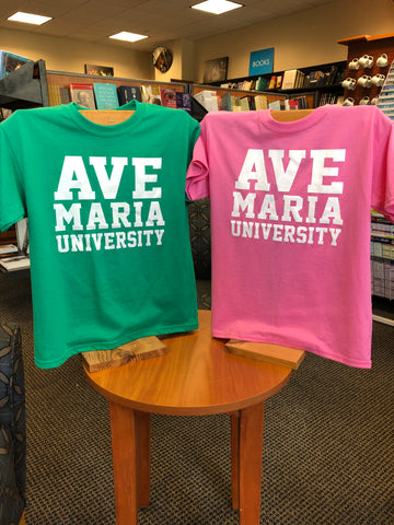 Youth Ave Maria University Block Letters T-Shirt