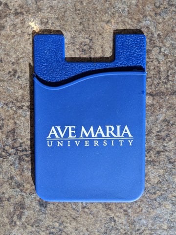 Ave Maria University Silicone Cell Phone Card Holder