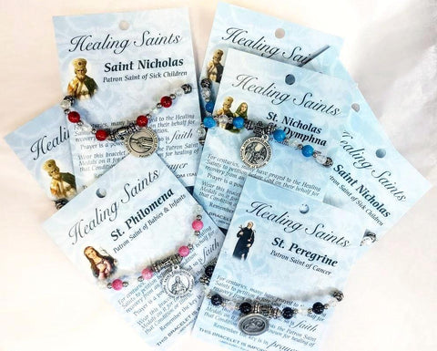 Healing Saints Stretch Bracelets (by Lumen Mundi)