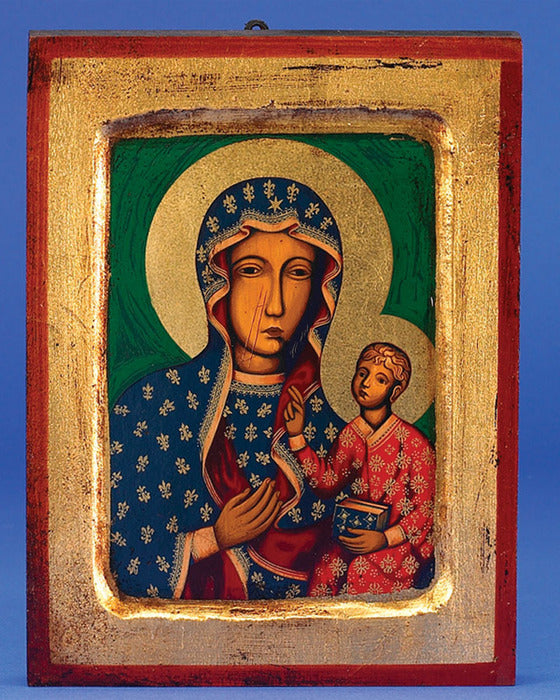 Lady of Czestochowa - Hand-Painted Gold Leaf Icon (by Lumen Mundi)
