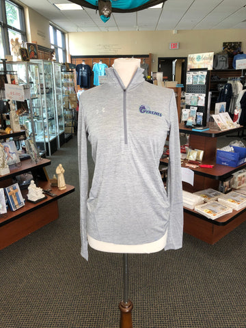 Under Armour Women's Gyrenes Metallic Silver 1/4 Zip