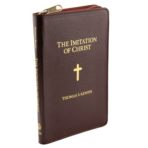 The Imitation of Christ by Thomas A Kempis Leather Zipper Cover