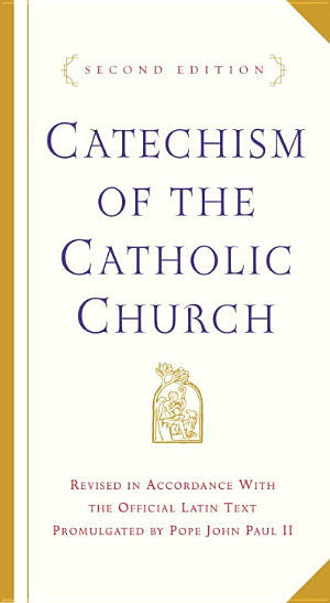 Catechism of the Catholic Church Second Edition (white and gold, small hardcover)