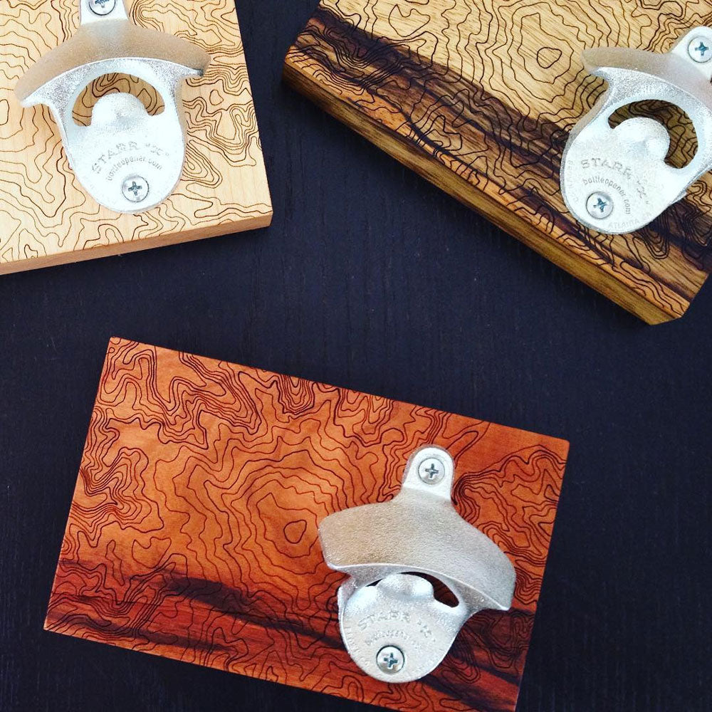 SML creates housewares such as bottle openers, vessels, and coasters