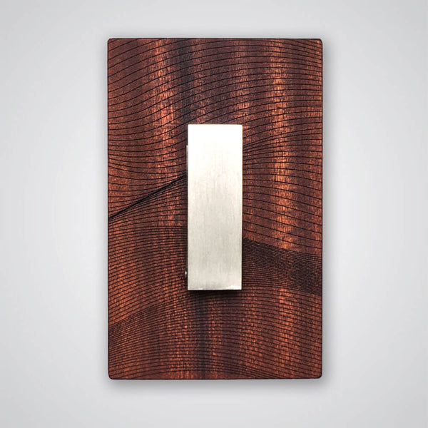 Waves Coat Hanger in Red Wood - 1 Hook