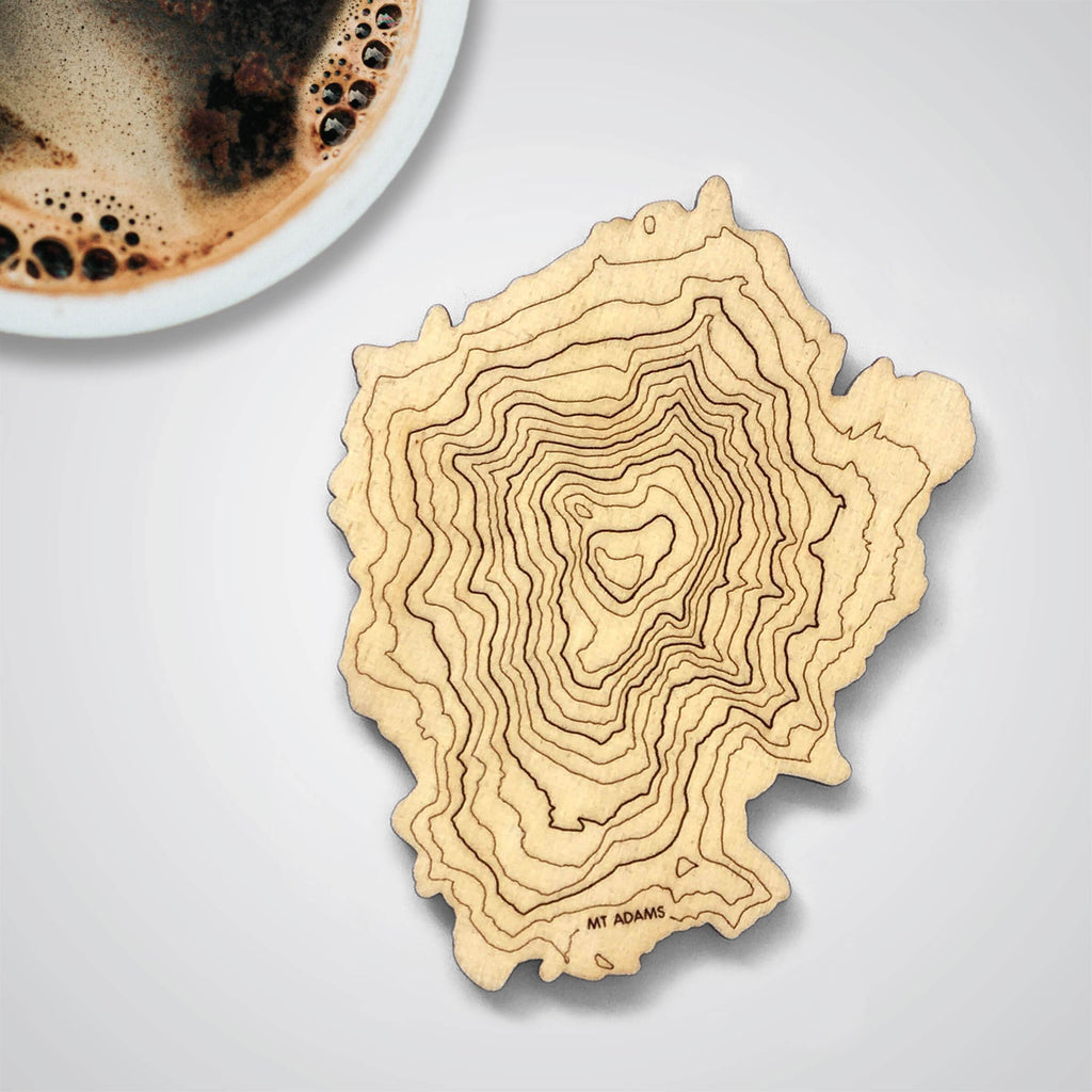 Mt Adams Topography Coaster - Single
