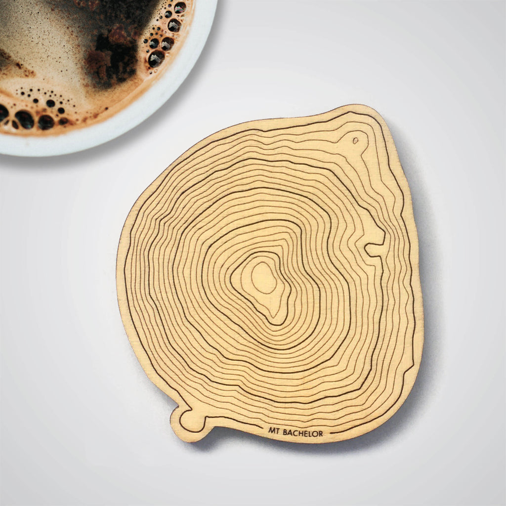 Mt Bachelor Topography Coaster - Single