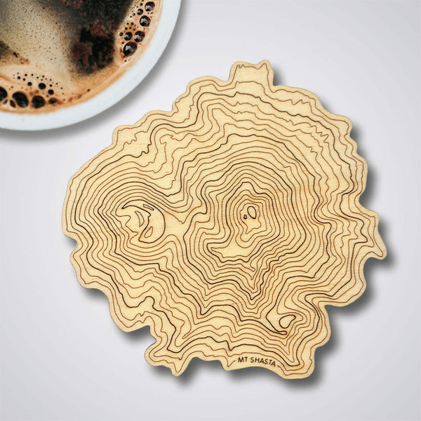 Mt Shasta Topography Coaster - Single