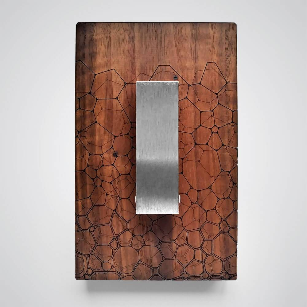 Fractal Coat Hanger in Dark Wood - 1 Hook
