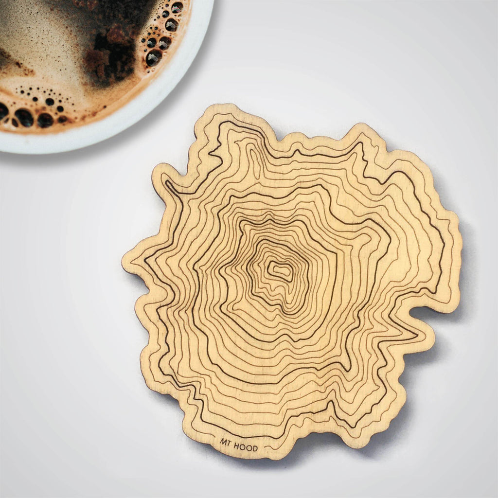 Mt Hood Topography Coaster - Single