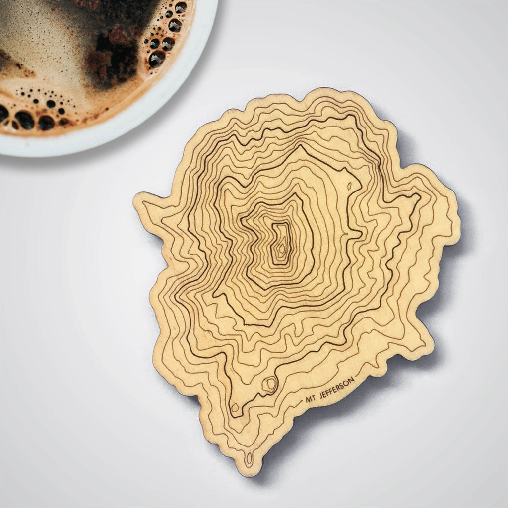 Mt Jefferson Topography Coaster - Single