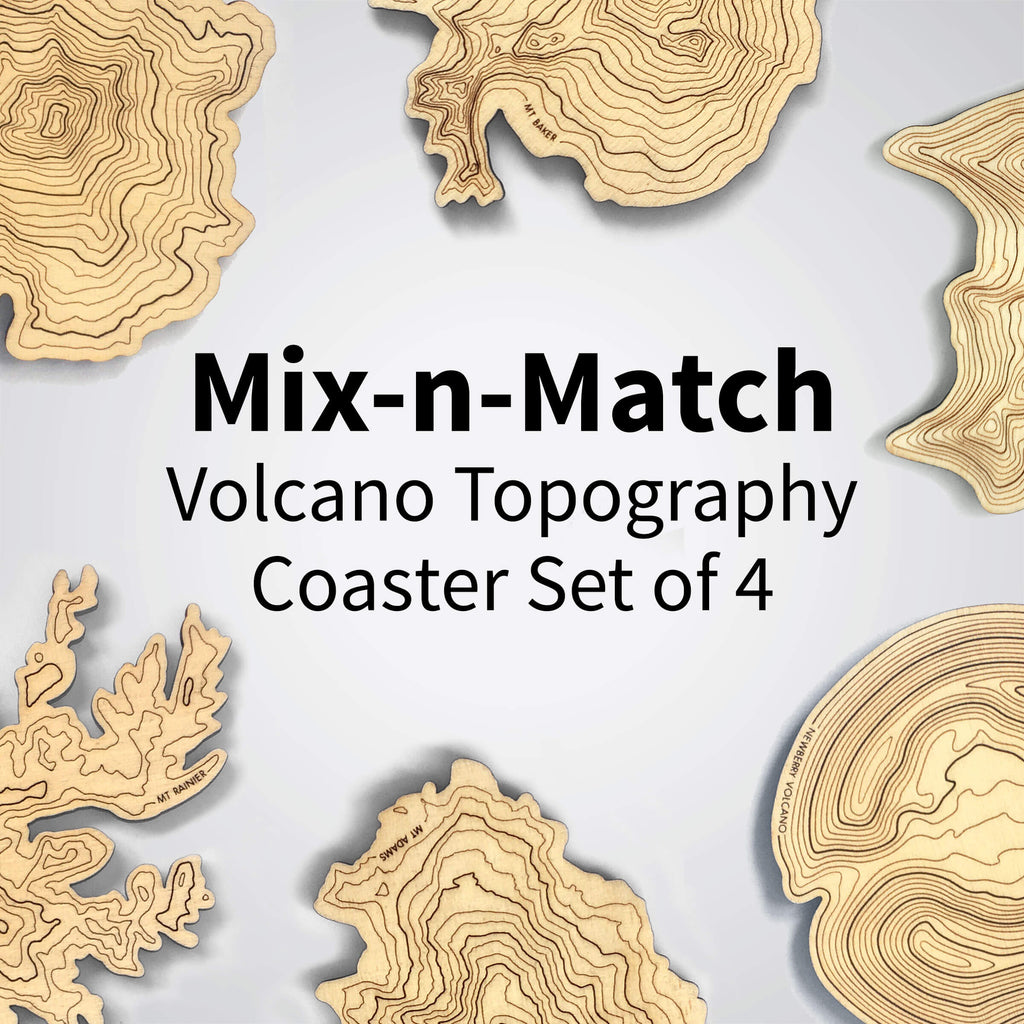 Mix-n-Match Topography Coasters - Set of 4