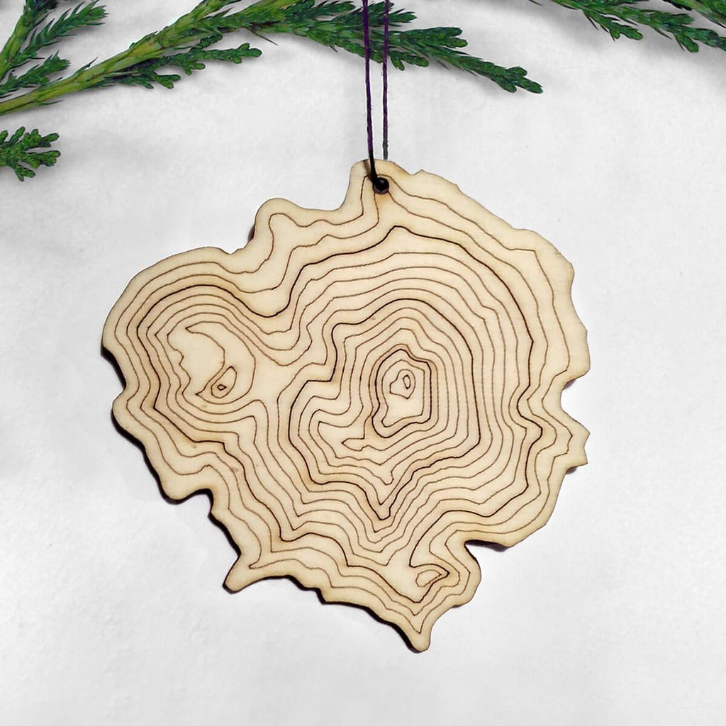 Mount Shasta Topography Ornament
