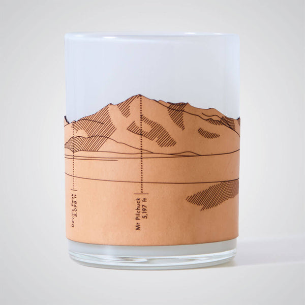 North Cascades Candle Votive in Grey Glass