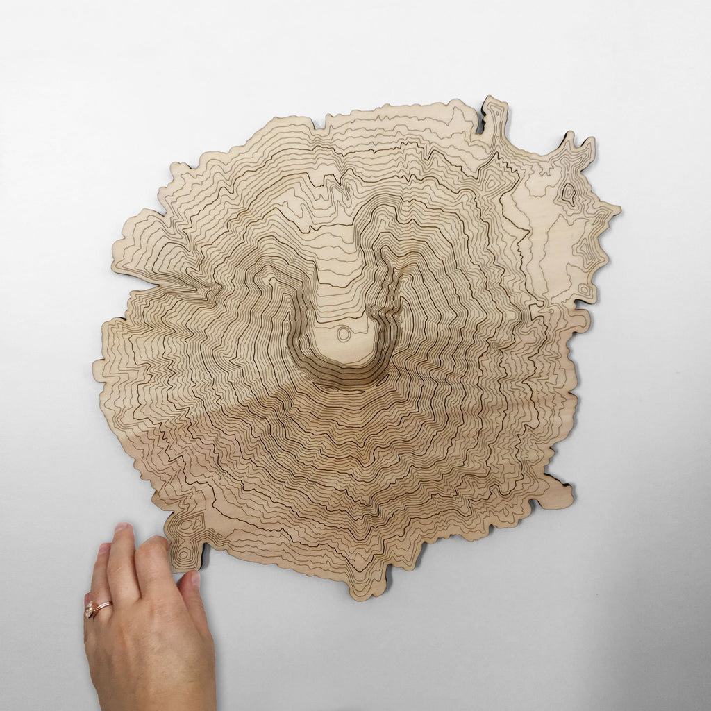 Mt St Helens Topography Wall Art