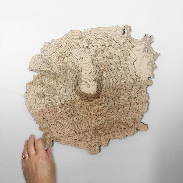 Mt St Helens Topography Wall Art Design By SML