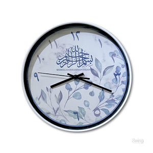Marble Leaves Clock