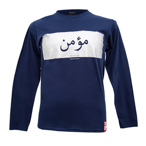 Believer مؤمن Navy Blue - Long Sleeve