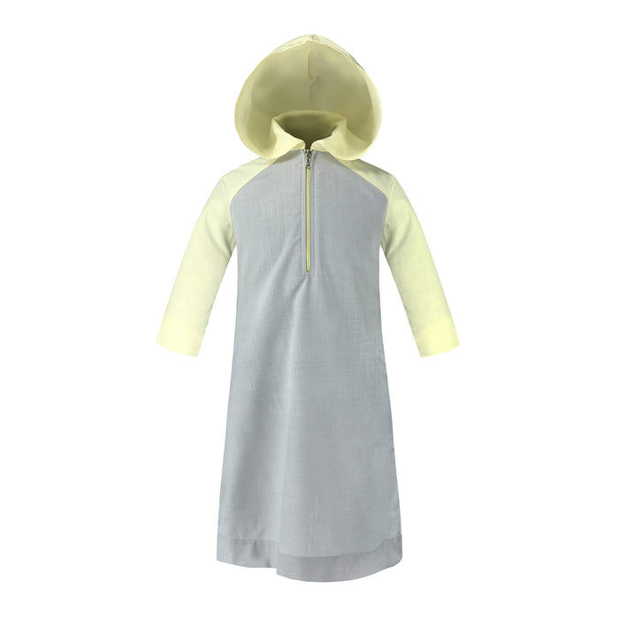 Toobaa Boys Hooded Jubah – Earl Grey