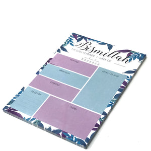 Blue Leaf Notepad