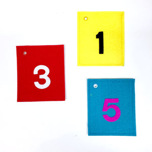 Numbers Set Flash Felt
