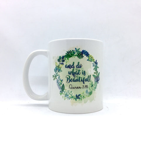 Beautiful 'Floral Green' Mug