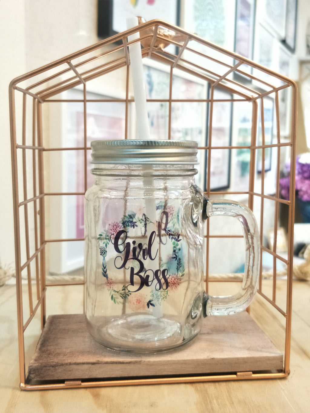Girl Boss Mason Jar
