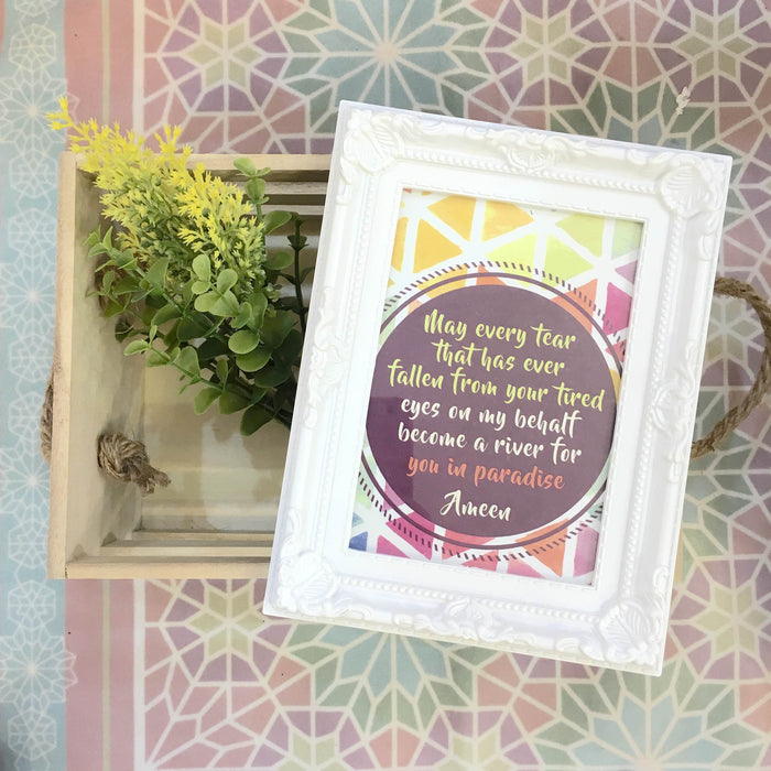 """In Paradise"" Table Frame"