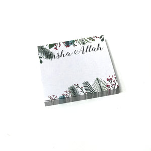 Green Leaf Notepad