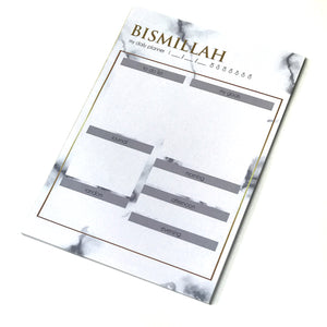 Marble White Notepad