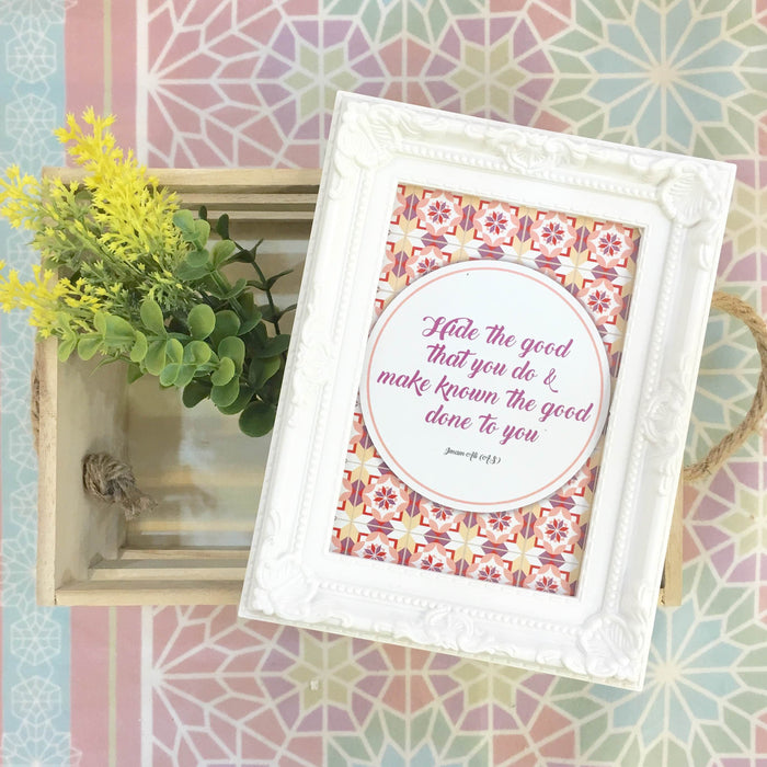 """Hide the Good"" Table Frame"