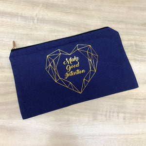 Gold Zip Gold Lining Pencil Case
