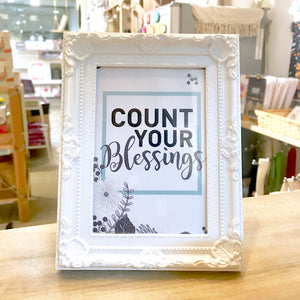 """Count Your Blessings"" Table Frame"