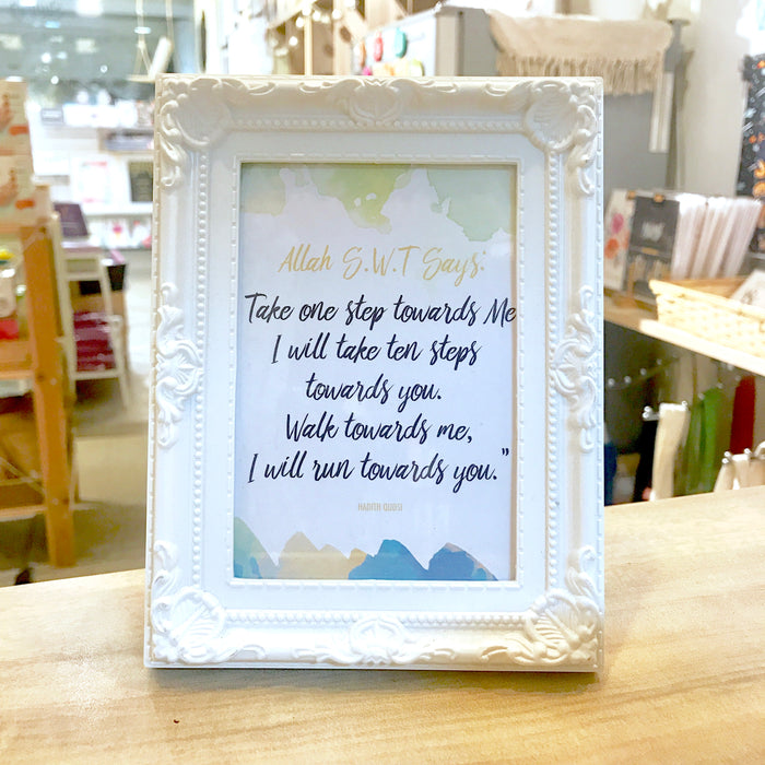 """Take one step towards Me"" Table Frame"