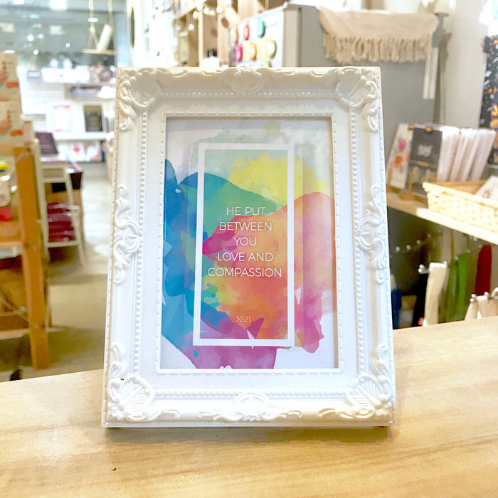 """Love & Compassion"" Table Frame"