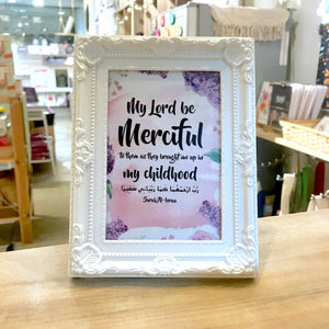 """My Lord Be Merciful"" Table Frame"