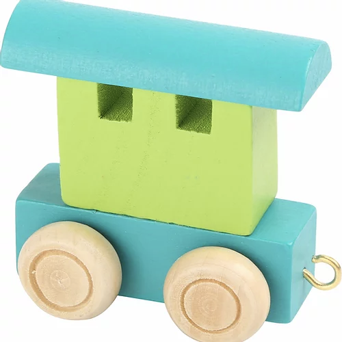 "LETTER TRAIN ""WAGGON' - Green & Blue"