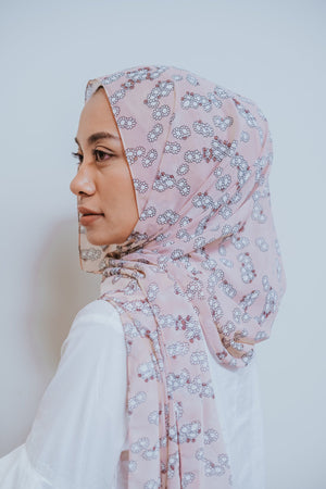 Mila Blush - Printed Shawl