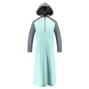 Toobaa Mint Rush – Men's Hooded Jubah / Thobe