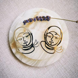 Modern Hijabi Girl Brooch