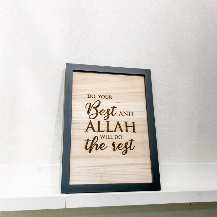 Medium Wood Frame - Do Your Best