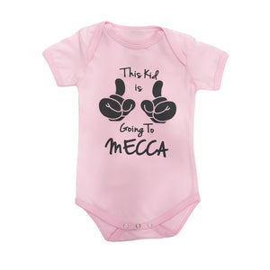 Rompers - This Kid Is Going To Mecca Baby Pink