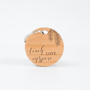 Teach Love Inspire Keyring