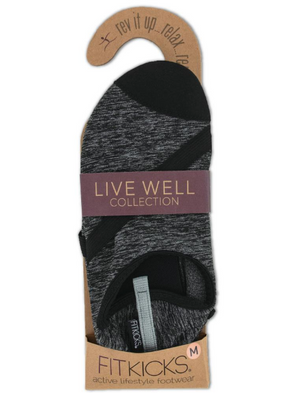 Fitkicks- Womens Live Well: Charcoal Black