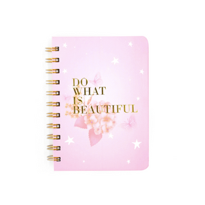 Do What is Beautiful Wire-O A6 Notebook