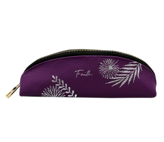 Faith Purple Pencil Case