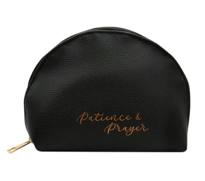 Patience & Prayer Black Pouch