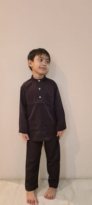 KhalifahbyN in Dark Brown - Kids Cekak Musang 2021