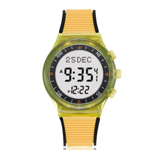 Yellow with black stripe- Azan Watch