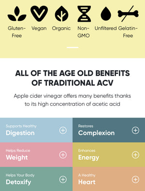 Goli Nutrition - Apple Cider Vinegar Gummies 60